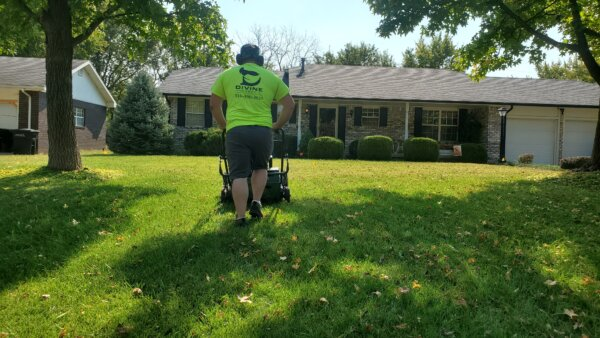 Towanda, KS - Aeration and overseeding can improve the health and vitaltiy of your lawn.