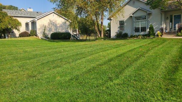 We love a lucious lawn. in El Dorado, KS.